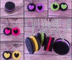 mjheartsit's save of Oreo Cookie Puzzle Necklaces, NOW IN COLOR, Best Friend Necklaces on Wanelo