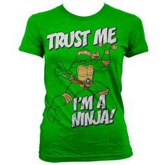 TMNT - Trust Me, I´m A Ninja Naisten T-Paita Vihreä 29€, S
