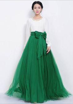 71d67d5a21 Brand new summer Women Mesh Chiffon Pleated Maxi skirts long Elastic high  Waist Skirts solid fashion floor-length skirt chiffon