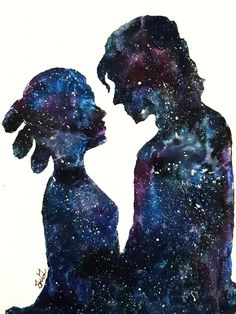 """saturnine-stardust: """" intertwined [x] watercolor, 2017. """" Gorgeous"""