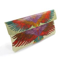 Leather Clutch Bag / Or Shoulder Bag The Beautiful by tovicorrie, $135.00