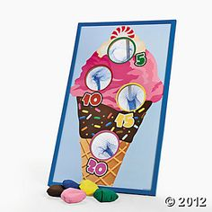 I scream, you scream, we'll all scream for this Ice Cream Bean Bag Toss Game! Toss the bean bags into the netted holes to score points. Scoop up some fun . Balloon Party Games, Birthday Party Games, 4th Birthday, Birthday Ideas, Summer Birthday, Rainbow Birthday, Birthday Nails, Bag Toss Game, Bags Game