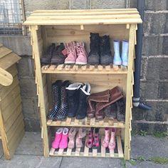 Wellington boot cupboard shoe rack outdoor storage boot store parcel store & Outdoor shoe storage! | outdoor storage | Pinterest | Outdoor shoe ...