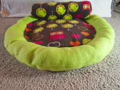 How to Sew a Round Cat Bed & Bolster Pillow - step by step Photo tutorial - Bildanleitung