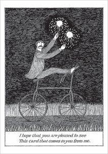 Edward Gorey Greeting Card - Pleased to See The Velvet Underground, Edward Gorey, John Kenn, Wordless Book, Up Book, Ink Pen Drawings, Typography Prints, Surreal Art, Dark Art