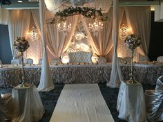 Wedding Draping, Wedding Reception Backdrop, Wedding Stage Decorations, Backdrop Decorations, Backdrops, Head Table Wedding, Bridal Table, Bride Groom Table, 2nd Wedding Dresses