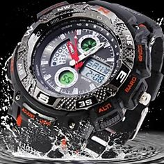 Men's Water Resistant Military Rubber Analog-Digital Display Sports Watch(Assorted Colors). Get unbeatable discount up to 60% Off at Light in the Boxs with Coupon and Promo Codes.