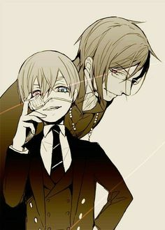 Black Butler (Kuroshitsuji) Sebastian Michaelis and Ciel Phantomhive