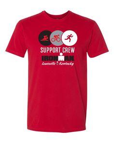 7630e140ac IRONMAN Louisville Men's Support Crew Tee • IRONMAN Louisville Event Logo  •Self Fabric: .