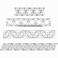 Chip carving patterns - borders