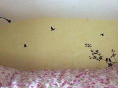Wall Decal: Amazon.com, $5.09 www.amazon.com/Black-Branches-Birds-Mural-Sticker/dp/B00BWI6YT0/ref=sr_1_cc_1?s=aps&e=UTF8&qid=1405564996&sr=1-1-catcorr&keywords=Black+PVC+branches+birds+door