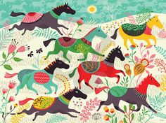 Wild Horses, Western and Horses Murals That Stick | Oopsy daisy