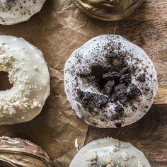 Lemon Meringue Pie, Oreo, Nutella, Lucky Charms and Mars Bar Donuts.