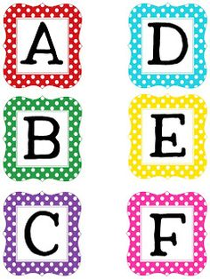 Uppercase Polka Dot Letters- Several different options for Boggle letters.