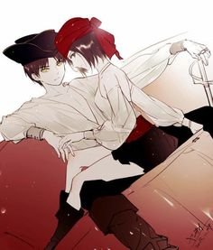 Eren x Mikasa C: I don't ship them... but this looks cool...