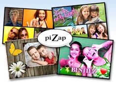 piZap is an online photo editor and collage maker good for kids and teens.  Mother's Day Craft to go with cd mosaic picture frame.