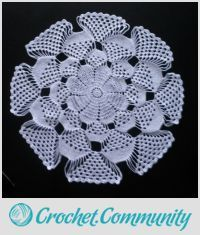 EDITOR'S CHOICE (07/01/2016) 3D doily by chasity View details here: http://crochet.community/creations/4684-3d-doily
