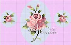 Schemes for embroidery colors miniatures - Flowers - weaving schemes beads - Treasury papers - Weave Beaded ornaments, trees and flowers, circuits u Tiny Cross Stitch, Beaded Cross Stitch, Cross Stitch Borders, Cross Stitch Flowers, Cross Stitch Charts, Cross Stitch Designs, Cross Stitching, Cross Stitch Patterns, Folk Embroidery