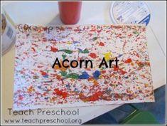 Acorn art by Teach Preschool