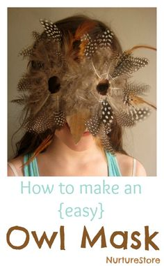 How to make an easy owl mask / owl costume. Beautiful but easy to make!