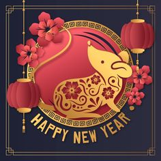Happy New Year 2020 Images, Quotes, Wishes and Greetings messages Happy Chinese New Year, Chinese New Year Design, Chinese New Year Greeting, Happy New Year Images, Happy New Year Greetings, Chinese New Year 2020, New Year Greeting Cards, Happy New Year 2020, Chinese New Year Images