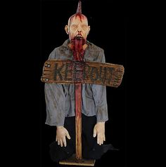 lifesize zombie dead man bloody scary undead halloween party haunted house prop ebay - Ebay Halloween Decorations