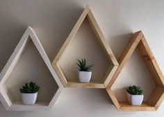 Mordern shelving geometric custom shelving 3 by Lovelifewood - wood projects projects diy projects for beginners projects ideas projects plans Custom Shelving, Modern Shelving, Rustic Shelves, Pallet Shelving, Diy Wood Shelves, Box Shelves, Kitchen Shelves, Storage Boxes, Floating Shelves