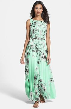 Eliza J Print Chiffon Maxi Dress
