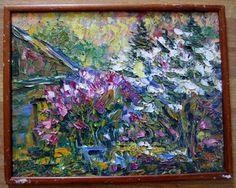 Free Shiping Oil painting Impressionism Village от LLiaMoscow, $199.00