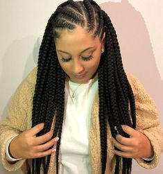 Feed In Braids Hairstyles, Braids Hairstyles Pictures, Braided Hairstyles For Black Women, African Hairstyles, Protective Hairstyles, Natural Hair Braids, Braids For Black Hair, Scalp Braids With Weave, 4 Braids