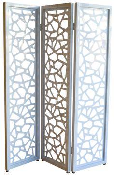 Room Divider - Geometric White