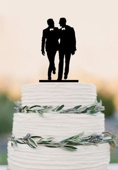 White Wedding Cakes Gay silhouette Homosexual Wedding Cake Topper For Men Gift Gay Wedding – DokkiDesign - ※※Attention ※※ Material : Acrylic inches) wide size is available for cake topper, if you need other sizes, please contact me. Gay Wedding Cakes, Lgbt Wedding, Wedding Men, Wedding Cake Toppers, Fall Wedding, Our Wedding, Dream Wedding, Wedding Ideas, Wedding Reception