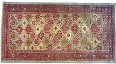 """Persian: Floral 20' 0"""" x 10' 6"""" Antique N.W. Persia at Persian Gallery New York - Antique Decorative Carpets & Period Tapestries"""