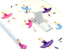 Multi-Coloured ballerina lightswitch cover