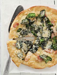 Pinaatti-pekonipizza   Reseptit