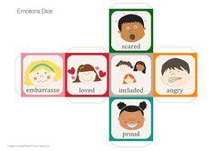 Con esta actividad vamos a trabajar vocabulario referente a los distintos estados de ánimo, es por ello que el dado de los sentimientos  e...