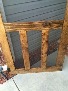 DIY Pallet Screen Door   Pallet Furniture DIY
