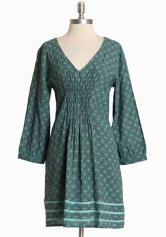 Kiana Smocked Dress By Mata Traders In Mint~~could wear a high-rising cami underneath to cover the chest and jeans underneath or loose pants :)