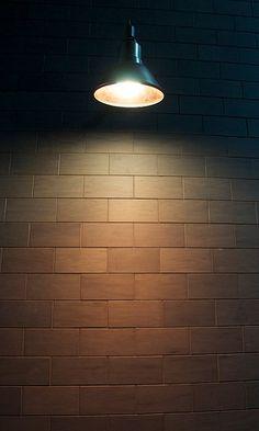 Woodsmithe Wood Tile Wall @ Handsome Coffee Roasters