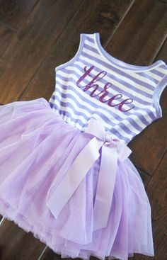af9ea033fbab Third Birthday outfit, third birthday, purple tutu dress purple letters and purple  tutu for girls or toddlers Sofia the first 3rd birthday