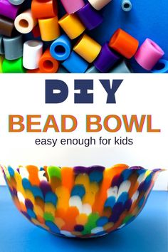 This perler bead bowl DIY is the perfect family night craft! Simply design, melt, and enjoy your new masterpiece. These are the perfect inexpensive craft ideas for kid's and adult get-togethers! Design your bowl in your choice of colors, your bowl will be sturdier the the typical perler bead bowl! Diy Crafts For Girls, Easy Diy Crafts, Diy Craft Projects, Diy For Kids, Fun Crafts, Kids Birthday Crafts, Birthday Diy, Bead Bowl, Do It Yourself Organization