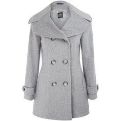 Blackfive Single Buttoned Md-long Grey Woolen Coat (315 DKK ...