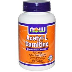 Now Foods, Acetyl-L Carnitine, 750 mg, 90 Tablets