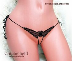 Mini open thong butterfly  tulle embroidery lace ouvert