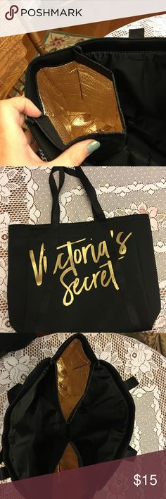 Victoria Secret tote with insulated pockets Victoria Secret tote! Brand new!! Insulated pockets, perfect for wine bottles or anything else! Can be bundled with other items! ❤️ Victoria's Secret Bags Totes