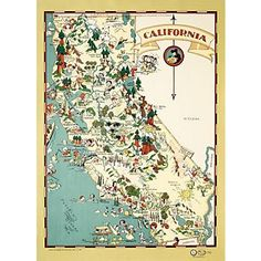 California Map Wrapping Paper, paper source
