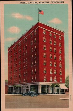 Hotel Dayton - Kenosha, WI (Downtown) ~ (Vintage Postcard)