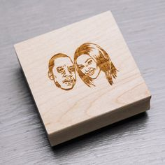 COUPLE CUSTOM PORTRAIT STAMP — Stamp Yo Face!