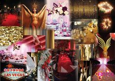www.2-nice.nl Event Decoration Agency, Styling, Decoratie, Aankleding, Feest, Party Decoration, Theme Las Vegas Vintage Chique, Design, Moodboard, Collage