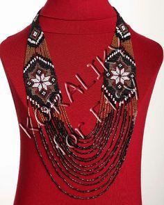 Black /Gold /White /Red. Traditional Ukrainian Folk door koraliky, $46.70